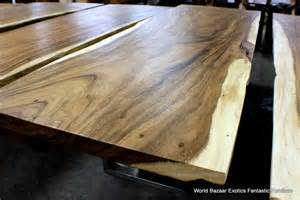 Solid Wood Dining Table Exotic Wood Slabs Youtube » New Home Design