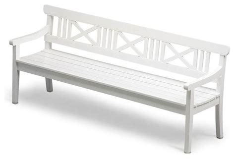 the white bench drachmann bench 200 white white outdoor bench treenovation
