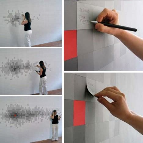 Pixelnotes Wallpaper Reinvents The Post It by Modele De Tapet Ingenioase Timis Construct