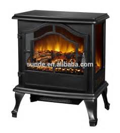 3 sides glass view compact electric fireplace heater stove