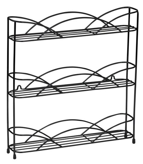 Spice Rack Spices Included Black Wire Wall Mount Spice Rack In Spice Racks