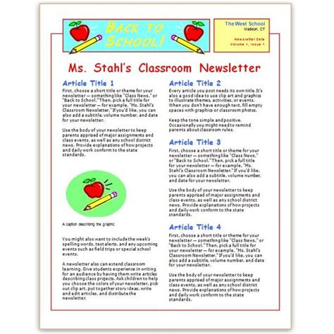free elementary school newsletter template where to find free church newsletters templates for