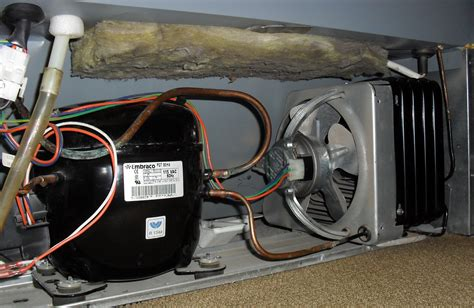 refrigerator condenser fan not working file refrigeration comp and coil jpg wikimedia commons