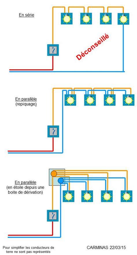 Comment Installer Des Spots Encastrables Au Plafond by Branchement Spots Au Plafond En S 233 Rie Ou Parall 232 Le