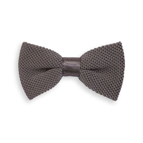 grey pattern tie grey knitted bow tie the house of ties