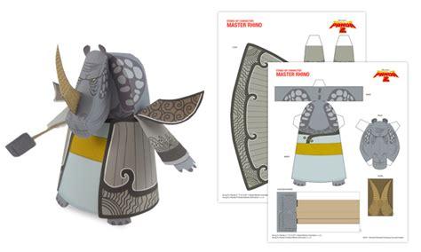 kung fu panda master rhino kungfupanda2 master rhino paper toys