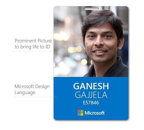 microsoft id card brand design language