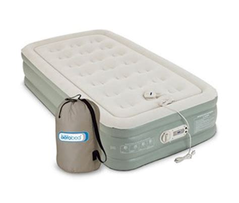 aerobed size antimicrobial premier high air mattress with built in