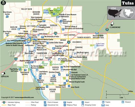 tulsa usa map tulsa map oklahoma map of tulsa