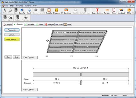 define cross sectional data conspan flared girder bridgemaster lars leap