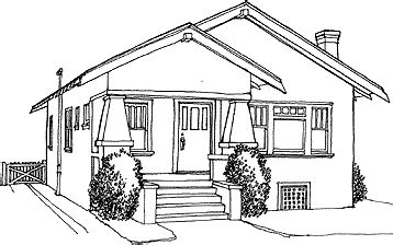 bungalow house sketch design arlene baxter s green bungalows california bungalow
