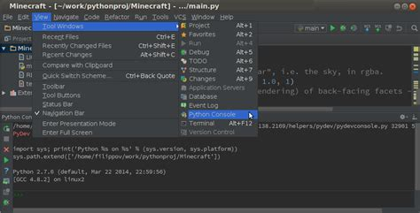 python console pycharm 4 preview build now available pycharm