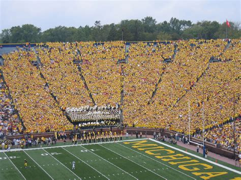 big house student section michigan football and bob ufer memories