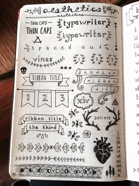 doodle journaling ideas bullet journal bullets aesthetics and lettering