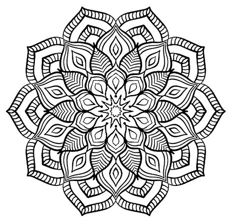 mandala flower coloring pages difficult mandala complex big flower difficult mandalas for