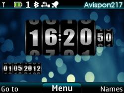 clock themes for mobile phones download free clock rolling s40 mobile phone theme 829