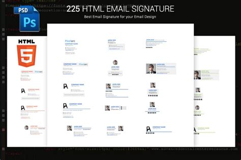 html email signature templates free email signature template for unique identity html and psd