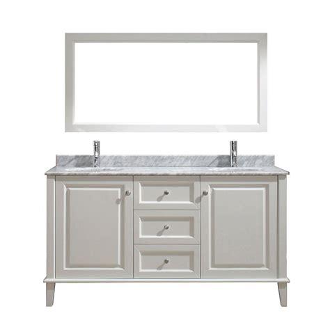 Studio Bathe Vanity by Studio Bathe 63 In Vanity In White With Marble