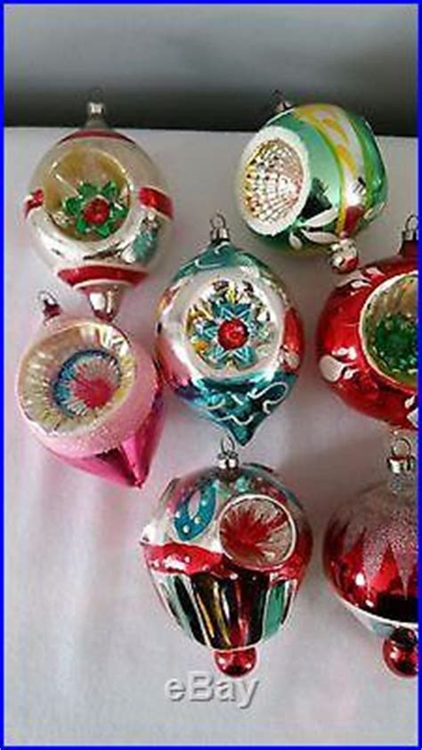 Chistmas Ornament Type E 03 2914 vintage indent balloon finial glass ornaments box of 12 germany