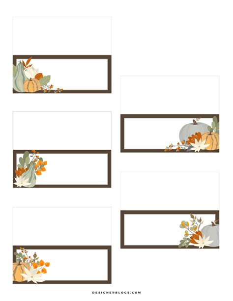 Free Printable Personalized Thanksgiving Place Cards