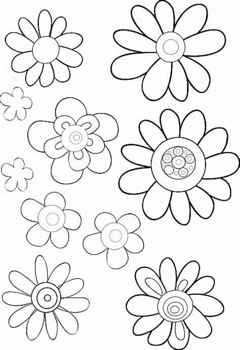 fiori da disegnare e colorare diversi tipi di fiori da stare e da colorare disegni