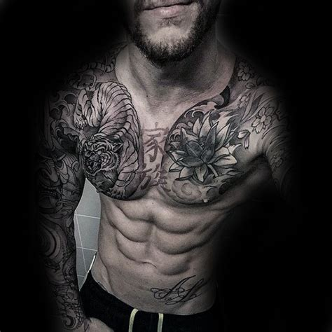 tattoo designs shoulder to chest 101 best chest tattoos for men
