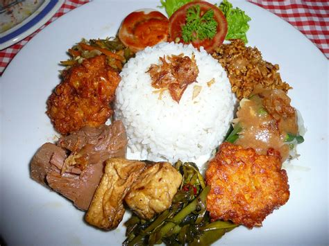 vegetarian nasi campur aris ubud bali  photo