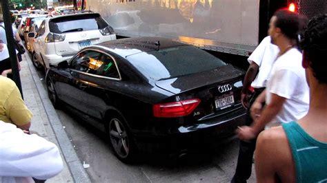 Audi A5 Crashtest by Audi A5 Crash In 6th Av Nyc