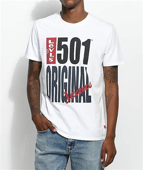 Kaos Levis 501tshirtt Shirt Levis 501 levis 501 logo white t shirt zumiez