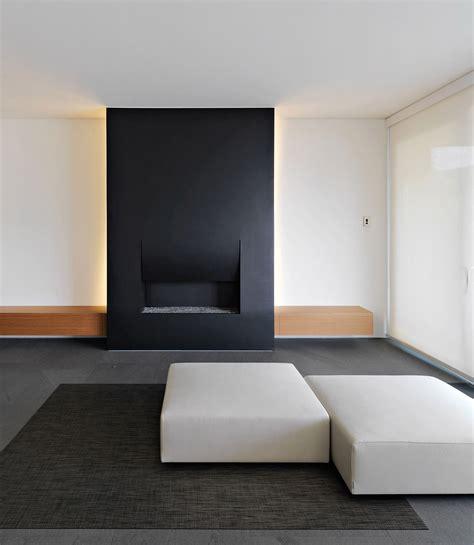 minimalist fireplace contemporary fireplace minimalist home in lugano