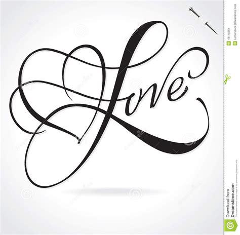 imagenes de i love you en cursiva letras de la mano del amor ilustraci 243 n del vector