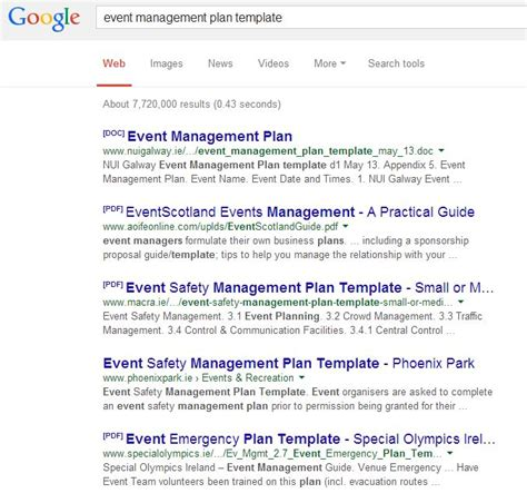 event management plans don t copy someone else s