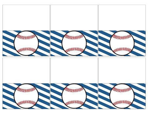 printable baseball tags baseball place card holders free printable paper trail