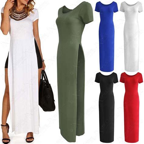 Tunik Blouse Dress Midi Maxi Bluss Atasan Baju Muslim Longdress new high side slit top midi dress maxi look sleeve tunic ebay