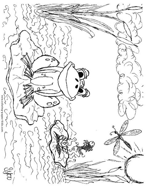 frog habitat coloring page 25 best ideas about frog coloring pages on pinterest