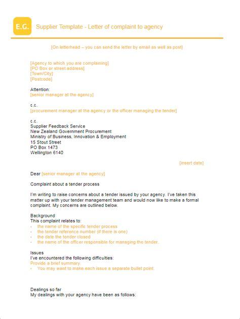Complaint Letter Keywords 25 complaint letter templates free word sles