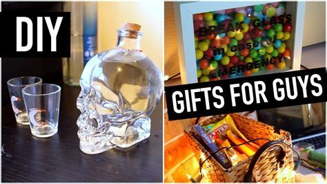 DIY Gift Ideas for Guys (best friend, brother, dad, etc