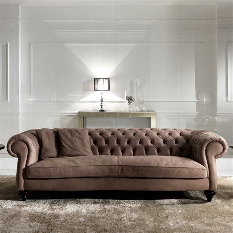 Italian Modern Sofa Italian Leather Modern Chesterfield Sofa