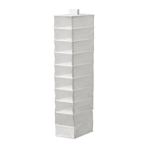 ikea hanging organizer skubb organizer with 9 compartments white ikea