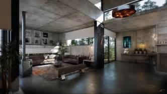industrial home interior modern industrial loft apartment dark brown floor