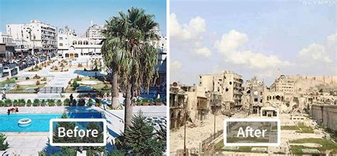 Syria Della 2 13 صورة قبل وبعد تظهر آثار الحرب على حلب بيرق