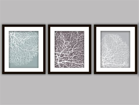 prints for bathroom bathroom coral art prints set of 3 in any colours