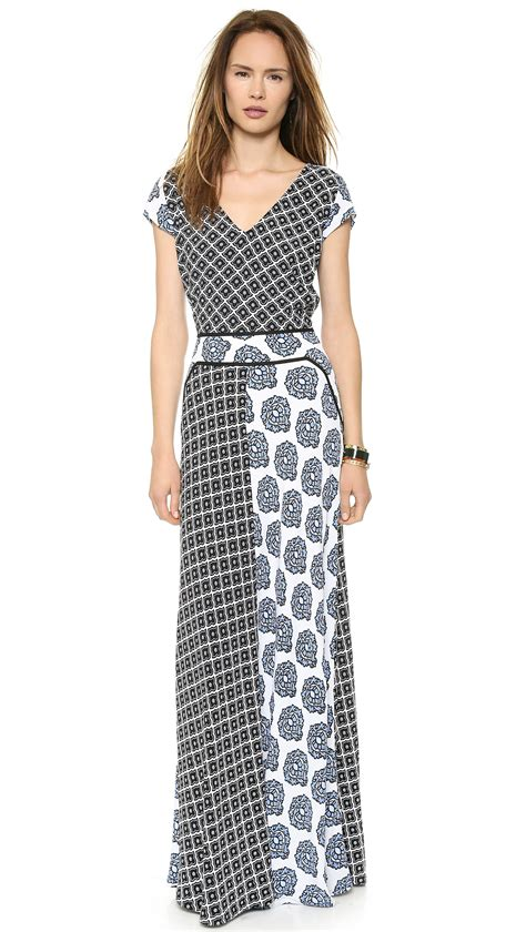 Patchwork Maxi Dress - tigerlily cote maxi dress patchwork lyst