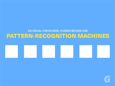 pattern recognition applications ppt as visual creatures human beings