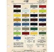 1971 Mustang Paint Chip Chart With Mixing Codes  Maine