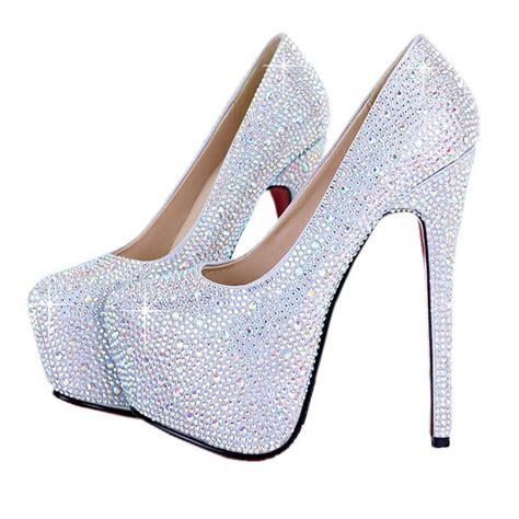 shop free shipping silver rhinestone pumps fashion