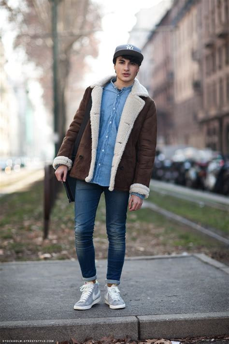 mens stockholm street style streetstyle lammy jeans nike