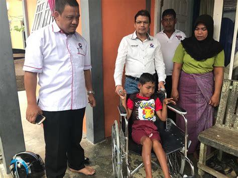 Kursi Roda Untuk Penderita Stroke perindo aceh salurkan kursi roda untuk bocah penderita