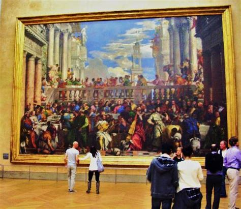 Wedding At Cana Painting In The Louvre by The Louvre The Wedding Feast At Cana 1562 1563 By