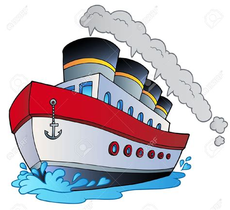 steamboat cartoon drawing ship clipart big boat pencil and in color ship clipart